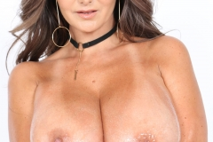 Ava Addams Huge Tits in White Tight Top 021
