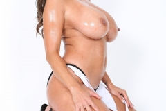 Ava Addams Huge Tits in White Tight Top 027