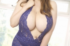 Bella Brewer Huge Tits Blue Lacy Minidress 010