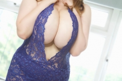 Bella Brewer Huge Tits Blue Lacy Minidress 011