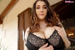 Bella Brewer Naked Huge Tits in Black Slipdress 007