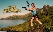 Bianca Beauchamp Big Boob Rubber Lara Croft 001