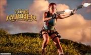 Bianca Beauchamp Big Boob Rubber Lara Croft 008