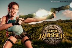Bianca Beauchamp Big Boob Rubber Lara Croft 003