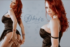 Bianca Beauchamp Huge Boob Black Silky Nightie 002
