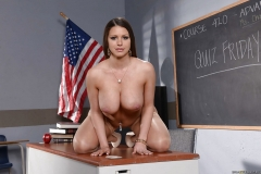 Booklyn Chase Big Boobs Black Miniskirt in School 012