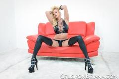 Briana Banks Big Boobs Leather Bra Stockings and Heels 006