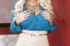 Bridgette B Big Tit Blonde Secretary in Blue Shirt 001