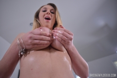 Brooke Wylde Huge Tits are Oiled and Naked 004