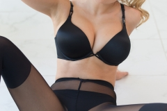 Candice Brielle Big Boobs Revealed Slowly With Black Lingerie 10