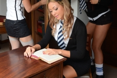 Candice Collyer, Lucy Diamond and Natalia Forrest Fight out of School Uniform to Show Boobs for St MacKenzies 02