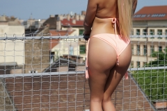Candy Alexa Big Boobs Squeezed in Peach Bikini 010