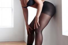 Carrie-Lachance-Black-Bra-Pantyhose-and-Steep-Heels-003