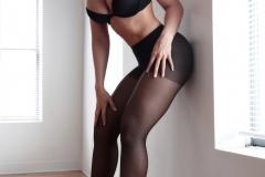 Carrie-Lachance-Black-Bra-Pantyhose-and-Steep-Heels-004