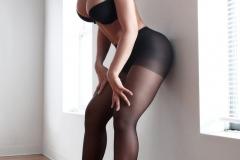 Carrie-Lachance-Black-Bra-Pantyhose-and-Steep-Heels-005