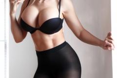 Carrie-Lachance-Black-Bra-Pantyhose-and-Steep-Heels-009