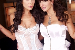 Catalina Cruz and Kirsten Price Big Boobs in White Basques 01