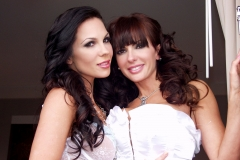 Catalina Cruz and Kirsten Price Big Boobs in White Basques 03
