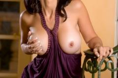 Catalina Cruz Big Boobs and a Purple Minidress 008