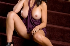 Catalina Cruz Big Boobs and a Purple Minidress 010