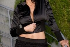 Catalina Cruz Big Boobs Tiny Black Miniskirt 003