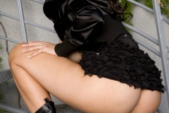 Catalina Cruz Big Boobs Tiny Black Miniskirt 013