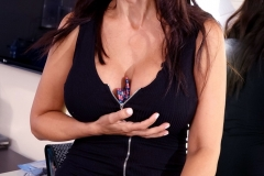 Catalina Cruz Big Juicy Boobs in a tight black dress 002