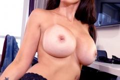 Catalina Cruz Big Juicy Boobs in a tight black dress 011