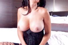 Catalina Cruz Big Tits Black Vinyl Corset 14