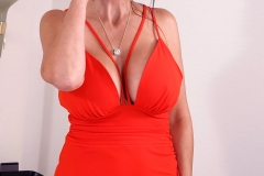 Catalina Cruz Huge Boobs in Sexy Red Dress 003
