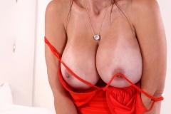 Catalina Cruz Huge Boobs in Sexy Red Dress 007