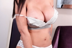 Catalina Cruz Huge Boobs in Soft Grey Bra 008