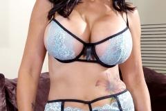 Catalina Cruz Huge Tits in Light Blue Lacy Lingerie 002