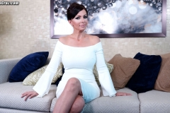 Catalina Cruz Huge Tits in Tight White Dress 001