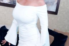 Catalina Cruz Huge Tits in Tight White Dress 004