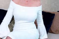 Catalina Cruz Huge Tits in Tight White Dress 005