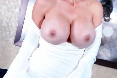 Catalina Cruz Huge Tits in Tight White Dress 010