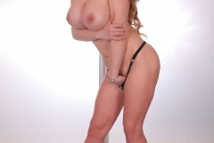 Cathy Heaven Big Tits in Purple Minidress 014