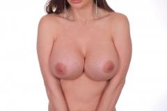 Cathy Heaven Big Tits in Purple Minidress 016