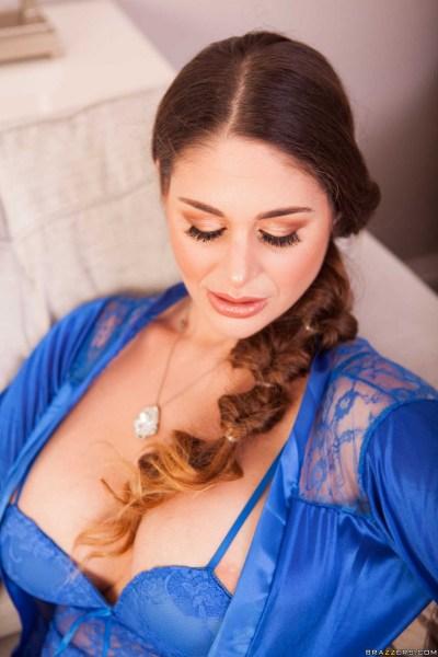 Cathy-Heaven-Huge-tits-in-Blue-Silky-Lacy-Lingerie-008