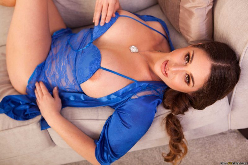 Cathy-Heaven-Huge-tits-in-Blue-Silky-Lacy-Lingerie-019
