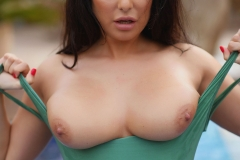 Charley S Big Boobs Get wet at the Pool 011