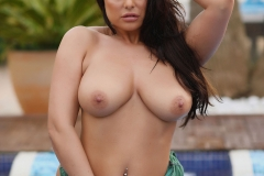 Charley S Big Boobs Get wet at the Pool 012