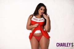 Charley S Big Boobs Red Cheerleader Outfit 05
