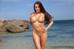 Charley S Big Tits Bikini at the Beach 08