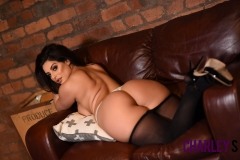 Charley S Big Tits Black Lacey Dress and Nylons 15