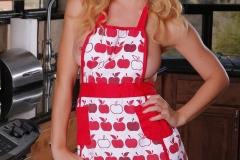 Cherie Deville Big Boobs Behind Apron in the Kitchen 001