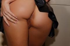 Cherie DeVille Big Boobs Tiny Black Miniskirt in the Laundry 006