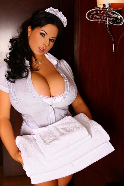 Chloe Vevrier Busty hotel maid 02