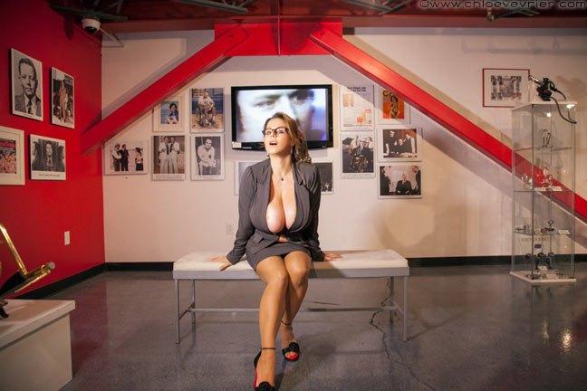 Chloe Vevrier Huge Boob Art Gallery Hostess 004